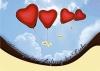 Ballonkarte zur Hochzeit Nr. 1 | ©IhreHochzeitstauben