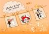 Ballonkarte zur Hochzeit Nr. 6 | ©IhreHochzeitstauben