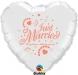 F1.8 - Folienballon Just Married weiß mit coral Schrift