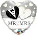 F16 - Folienballon Herz Mr und Mrs
