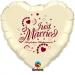 F3.2 - Folienballon Just Married ivory mit burgunder Schrift