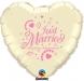 F3.3 - Folienballon Just Married ivory mit rose Schrift