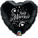 F5 - Folienballon Just Married schwarz mit weißer Schrift