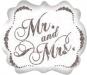 F9 - Folienballon Mr. and Mrs.