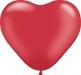 Herzballon Pearl Rubinrot Ø15cm ©IhreHochzeitstauben
