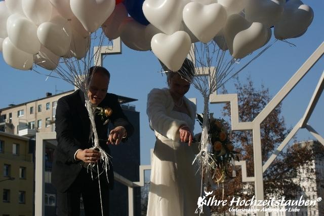 Ballons als Traube zur Hochzeit