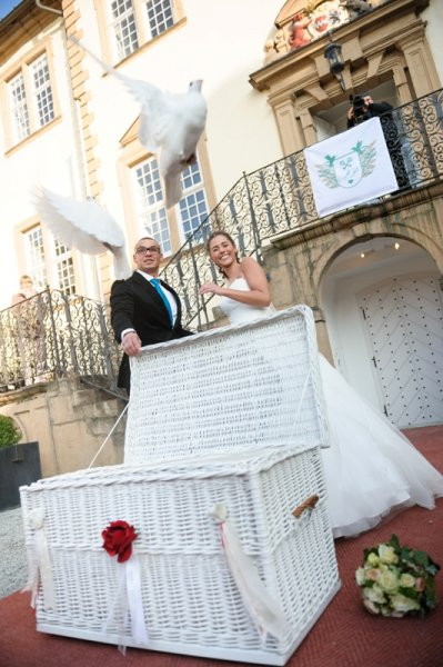 Hochzeitstauben bei Sarah und Pietro Lombardi 6 | ©kamermitherz