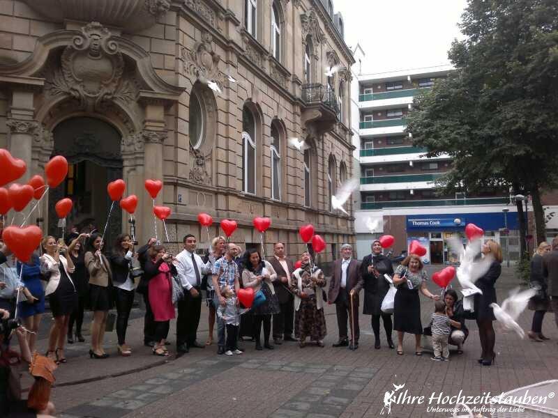 Ballons zur Hochzeit in Krefeld