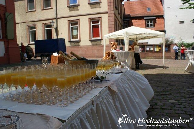 Sektempfang zur Hochzeit in Heidelberg