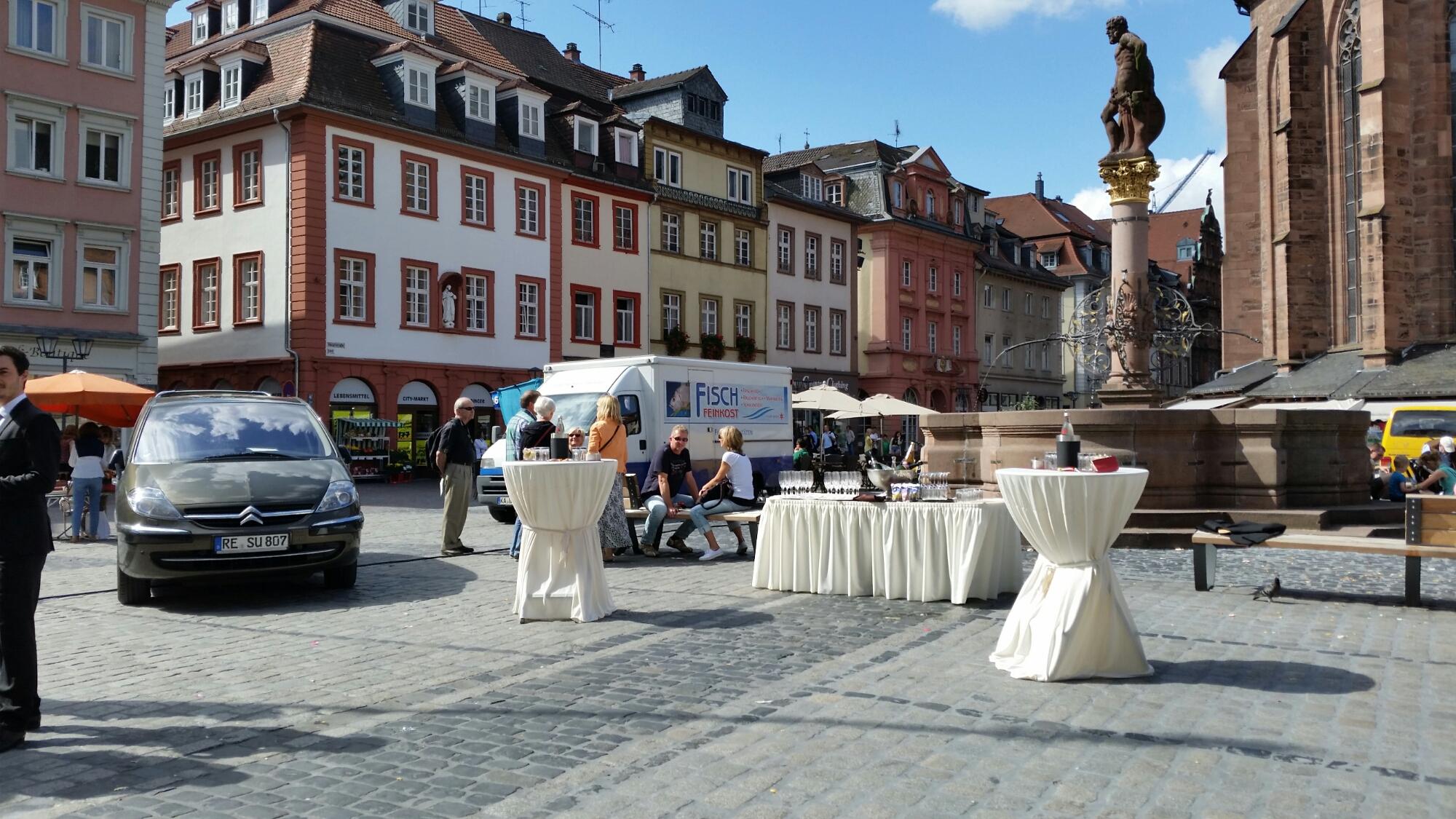 Sektempfang in Heidelberg