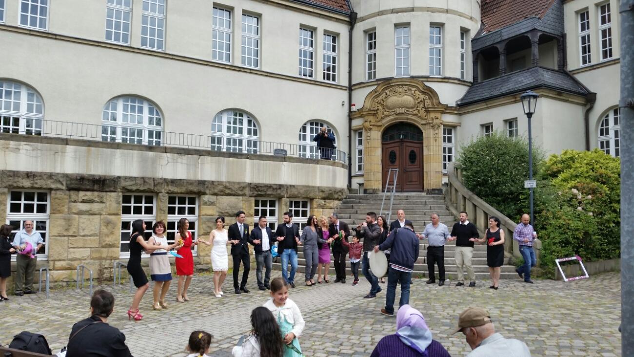 Hochzeit in Essen-Kray.