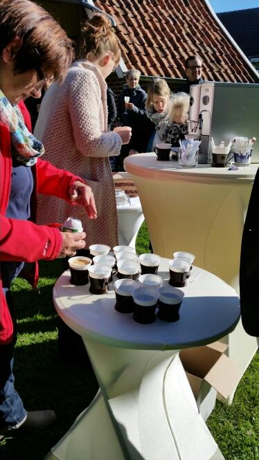 Kaffee Service zum Sektempfang