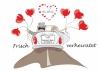 Ballonkarte zur Hochzeit Nr. 9 | ©IhreHochzeitstauben