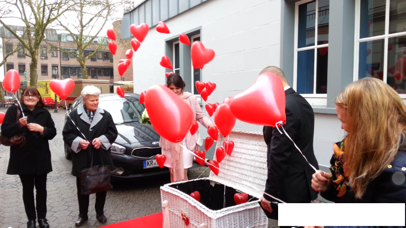 Unser Ballonspecial - Ballons statt Tauben in Kempen 2 | ©ihrehochzeitstauben