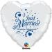 F1.7 - Folienballon Just Married weiß mit blauer Schrift