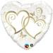 F14 - Folienballon Verschlungene Herzen gold
