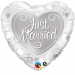 F19 - Folienballon Just Married silber