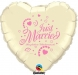 F3.3 - Folienballon Just Married ivory mit rose Schrift