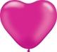 Herzballon Pearl Magenta Ø15cm ©IhreHochzeitstauben