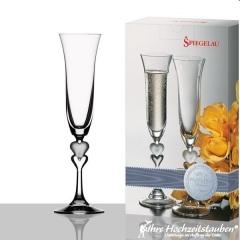 Sektglas für das Brautpaar | © Ihre Hochzeitstauben®