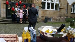 Hochzeitstauben und Sektempfang in Bochum-Gerthe