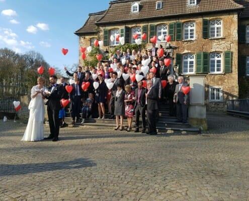Tauben und Ballons in Ratingen -2