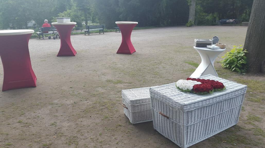 Sektempfang light zur Hochzeit Düsseldorf Bild 1