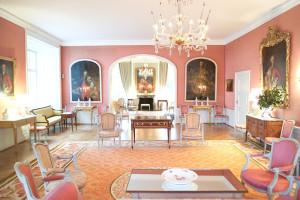 Roter Salon der Burg Heimerzheim | ©Burg Heimerzheim
