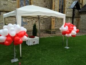 Hochzeitstauben und Ballons in Melle