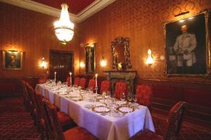 Rote Salon vom Schloss Hugenpoet in Essen