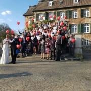 Tauben und Ballons in Ratingen