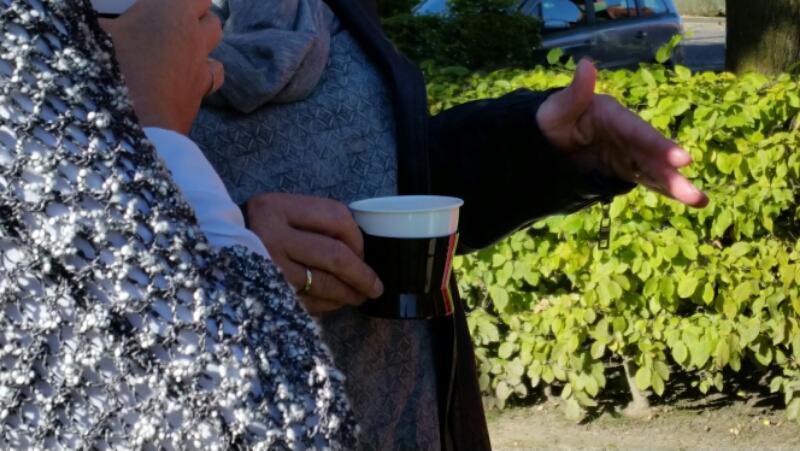 Kaffee beim Sektempfang