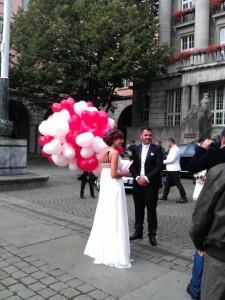 Luftballons zur Hochzeit | ©IhreHochzeitstauben