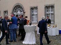 Sektempfang Schloss Martfeld | ©Ihrehochzeitstauben