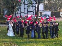 Ballons zur Hochzeit in Dortmund Revierpark Wischlingen